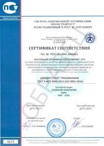 Образец ГОСТ Р ИСО 9001-2015 (ISO 9001:2015)