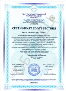 Образец ГОСТ Р 12.0.230-2015 (OHSAS 18001:2007)