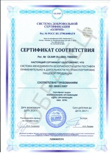Образец ISO 28001:2007