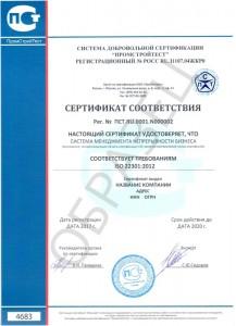 Образец ISO 22301:2012