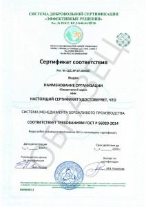 Образец ГОСТ Р 56020-2014
