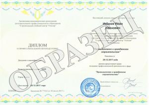 Образец диплома о профессиональной переподготовке от АНО ДПО «СУЦ «Основа»